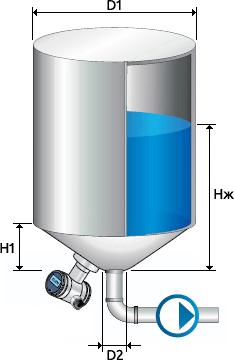 Цилиндрическая емкость
