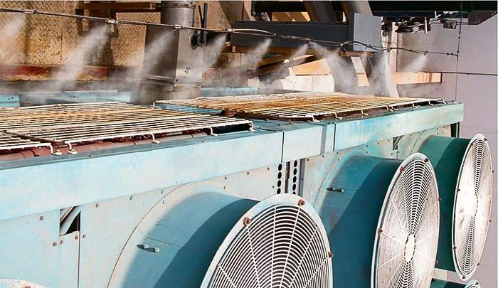 Использование тумана для охлаждения кондиционеров