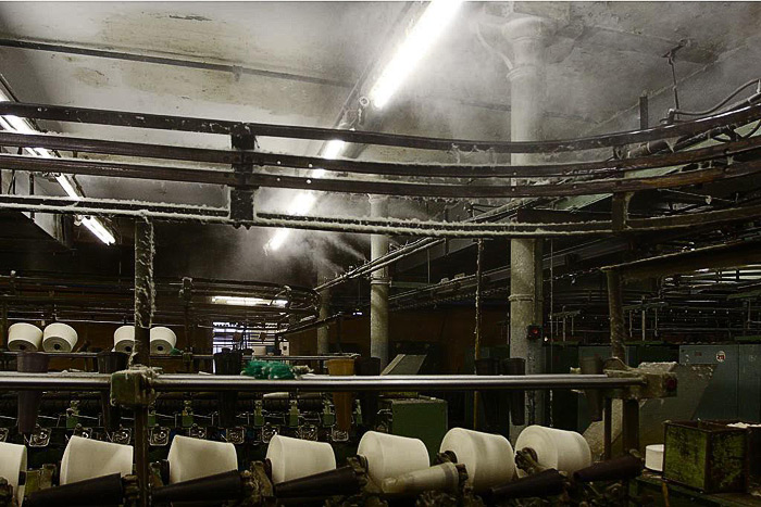 Увлажнение текстильного цеха