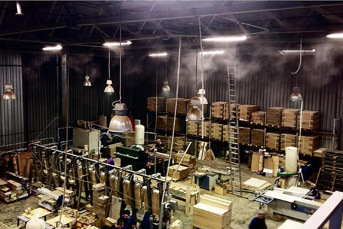 Туманообразование в деревообработке