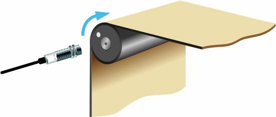 Измерение скорости вращения полотна (вала)