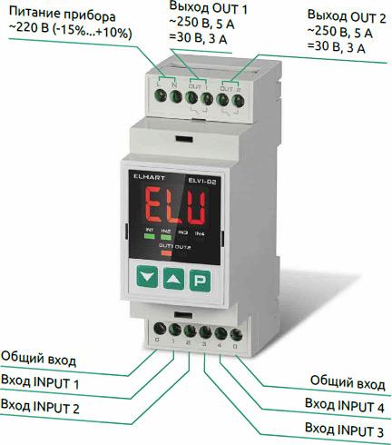 Внешний вид регулятора уровня ELHART ELV1-D2
