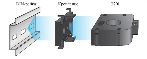 Монтаж датчика тока