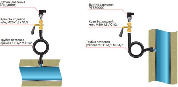 Монтаж датчика давления
