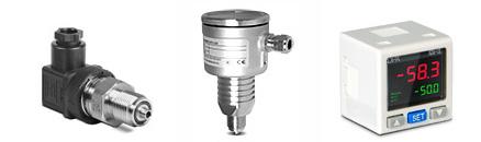 Датчики давления: ELHART PTE5000C, Klay CER-8000 и Delta DPA
