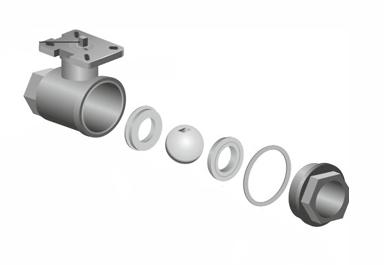 Двухсоставные и трехсоставные клапаны VALMA серии BAV-2P