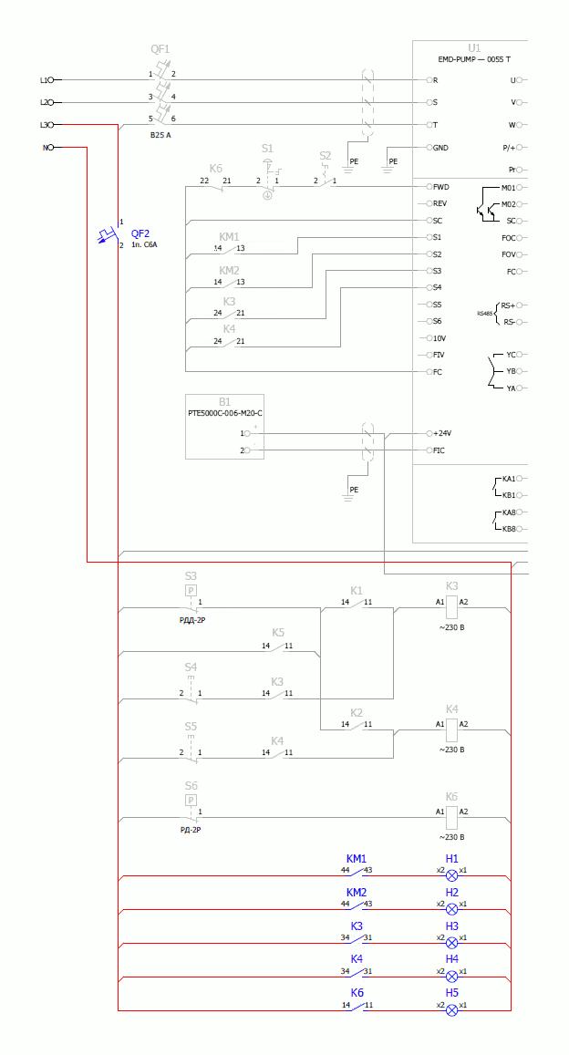 Рисунок 7 — Цепи индикации