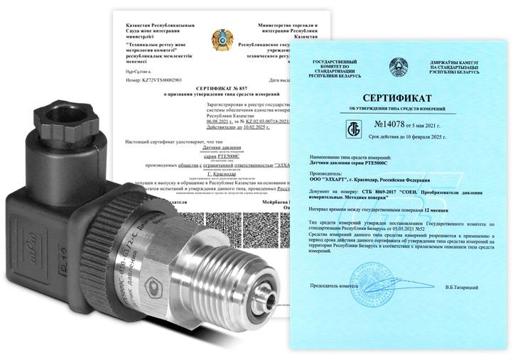 Датчик давления с аналоговым выходом PTE5000C